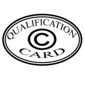 Qualification card — Stock Vector