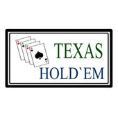 Texas hold em — Stock Vector