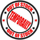 Out of stock — Stock Vector