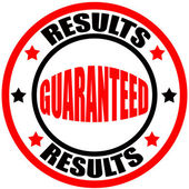 Results guaranteed — Stock Vector