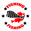 Fishing tournament — Vettoriali Stock