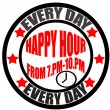 Happy hour — Vector de stock #30728319