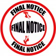 Final notice — Stock Vector