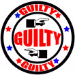 Stock Vector: Guilty