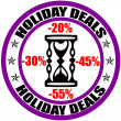 Holiday deals — Stock Vector
