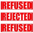 Refused Rejected — Stock Vector