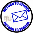 Return to sender — Stock Vector