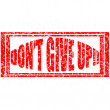 Stock Vector: Dont give up
