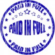Paid in full — Stock Vector