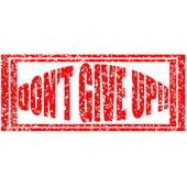 Dont give up — Stock Vector