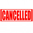 Stock Vector: Cancelled