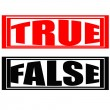 True and False — Stock Vector
