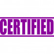 Certified — Stock Vector