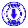 Stock Vector: Push down