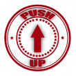 Push up — Stock Vector