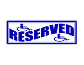 Reserved — Stock Vector