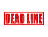 Dead line — Stock Vector