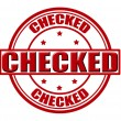 Checked — Stock Vector