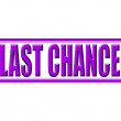 Last chance — Stock Vector
