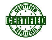 Zertifiziert — Stockvektor