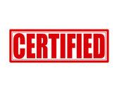 Certified — Stock Vector