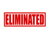 Eliminated — Stock Vector