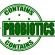 Contains probiotics — Stock Vector