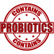 Stock Vector: Contains probiotics