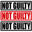 Not guilty — Stock Vector