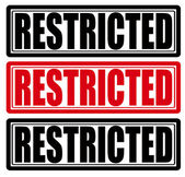 Restricted — Stock Vector