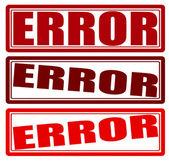 Error — Stock Vector