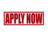 Apply now — Wektor stockowy