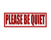 Please be quiet — Stock Vector