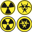 Bio hazard icons — Stock Vector