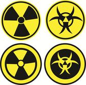 Bio hazard icons — Stock Vector
