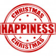 Christmas happiness — Stock Vector
