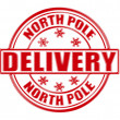 Stock Vector: North Pole delivery