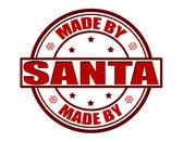 Made by Santa — Stock Vector