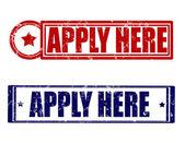 Apply here — Stock Vector