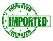 Imported — Stock Vector