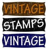 Vintage stamp — Stock Vector
