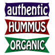 Stock Vector: Authentic hummus