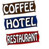 Koffie hotel en restaurant — Stok Vektör
