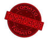 Tomato soup — Stock Vector