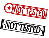 Not tested — Stock Vector