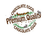 Chocolate eggs — Stock Vector