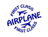 První třídy letadlo — Stock vektor