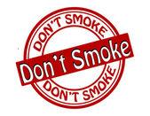 Don t smoke — Vettoriale Stock
