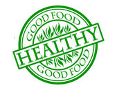 Healthy — Vettoriale Stock