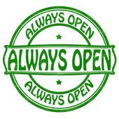 Always open — Stock Vector